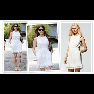 NWOT Peter Som Ivory Dress With Pockets 8